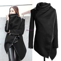 Wholesale Womens Cotton Overcoats - Promotion ! Womens Winter Woolen Overcoat Fashion Trench Woolen Coat