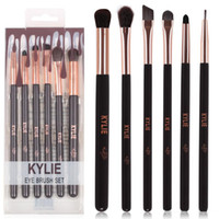 Wholesale Brush Sets Pieces - HOT new Kylie Makeup Eye Brush Set 6 pieces Makeup Tools DHL Free shipping+GIFT