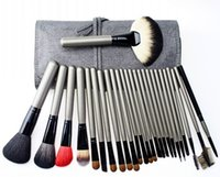 natur pcs großhandel-Make-up Pinsel Set Professionelle 26 Stücke Kosmetik Pinsel Kit Blending Kabuki Beauty Tool Hochwertige Natur Tierhaare