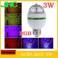 spot led lampe 8w großhandel-Bombillas LED Lampe E27 Moving Head Bühnenbeleuchtung Laser Kristall Auto Rotating RGB LED Par DJ Controller Discokugel Party Licht