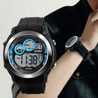 Wholesale Functional Water Brands - SKMEI Brand Men Sports Watches Fashion Digital Wristwatches LED Dive Military Multi-functional Outdoor Watch 2017 New Design