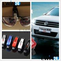 Wholesale Sun Visor Eyeglass Holder - Sunglasses Holder Clip For Car Sun Visor Eyeglasses Glasses Ticket Holder Mount 5Colors Pack of 10