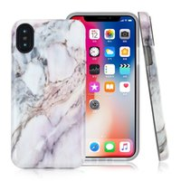 Leadka Glossy TPU suave para iPhone X Case Marble Stone Pattern para iPhone 8 7 6 6s Plus Soft Touch Cell Phone Shell