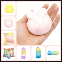 Wholesale Squishy Bunny - Free Shipping Scent Bunny&Pen Jumbo Squishy Kids Novelty Toys Squishies Decompression by Pressing Montessori Edu Gadgets Gifts Items
