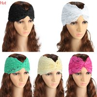 Wholesale Women Lace Hairband - Cheap New Headwear Lace Cotton Winter Headband For Woman Girl Hair Accessories Turban Headband Girl Headwrap Wide Twisted Hairband SV028421