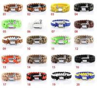 Wholesale Survival Bracelet U Clasp - Survival Bracelets Paracord Parachute Hiking Bracelet Stainless Steel U Clasp Unisex Escape Bracelet Handmade wristband Outdoor Gear 1736