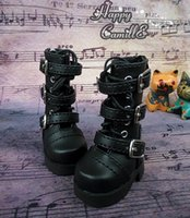Wholesale Doll Belt Buckles - Free Shipping 1 6 BJD Doll Shoes Punk Half Boots With Belt Buckles, Flat Lacing Shoes For BJD  SD Doll,Fashion Doll Accessories
