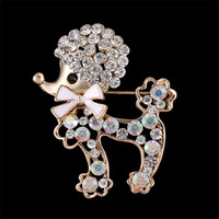 <b>Rhinestone Dog Brooches</b> Lovely Puppy Pin Animal Brooch Pin Mujer Accesorios de la ropa