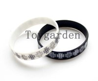 Wholesale Rubber Wristbands Bracelets Personalized - 50pcs customized rubber hand bands promotions custom silicone bracelets cheap personalize writing on silicone wristbands