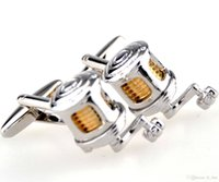 Wholesale Stainless Steel Kite Reels - The new foreign trade wit kite reel shape French cufflinks CZA2689