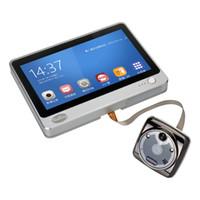 Wholesale Lcd Tft Capacitive - iHome 8 Wireless Video Door Phone Smart WIFI Peephole Doorbell Intercom 7 inch TFT Capacitive LCD touch screen