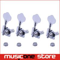 Wholesale Guitar Machine Heads Bass - A set 4R Chrome Opened Electric Bass Guitar Tuning Pegs Machine Heads Tuners For Bass Free shipping MU0212