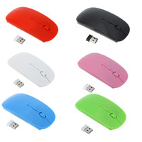 Wholesale Optical Usb Mouse Price - 2.4G Wireless Optical Mouse Fashion Ultra-thin Mouse with USB Receiver for Laptop Notebook PC Desktop Computer Wholesale Price