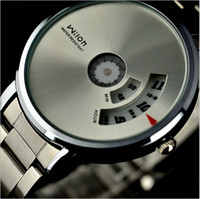 Wholesale Black White Strips - New Arrival wrist watch Original Veyron Wilon fashion genuine steel strip Turntable Dial quartz watch dizzy mens watches relogio masculino