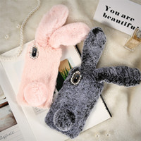 Wholesale Diamond Iphone 5s Cases - Christmas Rabbit Case For iPhone X 8 7 Plus Cute Cover For iPhone 6 6S Plus 5 5S SE 5C 4 Case Silicone Diamond Bling Coque