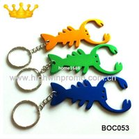 Wholesale Logo Giveaway - (500pcs lot) lobster keychain bottle opener,free etching logo and shipping,usage for lobster food festival,giveaway gift