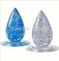 Wholesale 3d Crystal Jigsaw Puzzles - Wholesale-3D Crystal water Drop Jigsaw Puzzle Educational Toys, with retail box