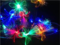 luzes de corda de fada azul venda por atacado-Férias flor modelagem levou corda luzes 4 m vermelho azul verde amarelo branco fairy corda luzes para o feriado decoração de natal luz