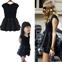 Wholesale Girls E Clothing - Wholesale-2015 Matching Mother Daughter Clothes Family Look Girl and Mother Mom and Daughter Dress Parent-child Outfit Ma e Filha C50