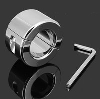 Wholesale cock ball stretching device resale online - 600G Stainless Steel Ball Scrotum Stretchers Metal Cock Ring Male Chastity Device Scrotum Testicle Stretched Sex Toys
