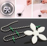 Wholesale Floor Care - Wholesale Drain wig Flower Kitchen Sewer Tub Hair Clean Tool Chain Drain Cleaner Floor Wig Cleaning Removal Anti Clogging Tools