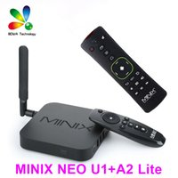 Wholesale Quad Core 5ghz - Original MINIX NEO U1+NEO A2 lite air mouse Android TV Box Amlogic S905 Quad Core 2G 16G 802.11ac 2.4 5GHz WiFi H.265 HEVC 4K HD XMC IPTV
