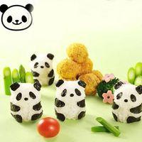 molde de arroz bento venda por atacado-Soco Molde de Sushi De Arroz Bola Molde Onigiri Nori DIY Criador Bento Ferramenta Panda Forma # 47331