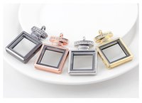 Wholesale wholesale perfume bottle charms - New Perfume Bottle Pendant lockets Zinc Alloy Smooth glass DIY charms floating locket jewelry Accessories For Bracelets and Necklaces