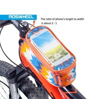 """Wholesale Top Tube Bag Phone - 5.2"""" ROSWHEEL Bicycle Smart Phone Bag, Bicycle Frame Pannier Top Tube Bag with Audio Extension Cable 8 Colors"""