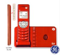 Wholesale Telephone Digital Phone - GE 28118 Ultra Slim DECT 6.0 Digital Cordless Phone Answering System Telephone Single Handset Home Phone