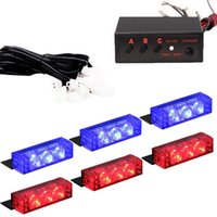 Roadhouse Grill 6X3 LED Blau Rot Notfall Warnung Auto Auto Boot Grill Bar Strobe Licht