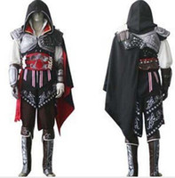 Wholesale khjh Assassin s Creed IV Black Flag Edward Kenway Cosplay Costume Whole Set Custom Made Express