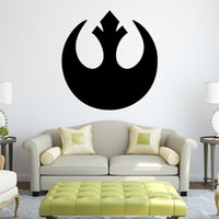 Wholesale Black Star Decal - Star Wars Black Wall Decal Stickers Rebel Alliance Wall Art Murals DIY Home Decoration Wallpaper Posters