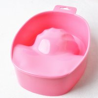 Monolayer Nail Soaker Bowl La Resurrezione di un Water Wash Container Nail Polish Cutin per incollare Bubble Hand Tool 40PCS