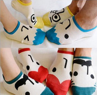 Wholesale Cartoon Faces Socks - New Summer Baby Cartoon faces Socks Kids Cotton Sock Children Socks Lovely Boys Girls Socks 12pair=24pcs