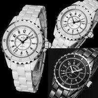 taklit bilek saatleri toptan satış-2015 sıcak Moda Erkek Cenevre Taklit Seramik Kuvars Analog Spor Bilek İzle Vee