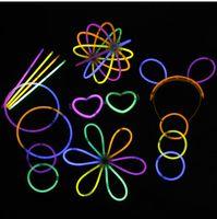 Wholesale Bright Glow Sticks - Multi Color Glow Fluorescence Sticks Flashing Bracelets Neon Bright Lights for Party