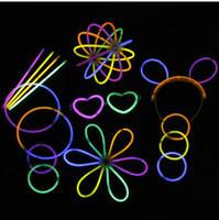 neon sopa ışıkları toptan satış-Çok Renkli Glow Floresan Sticking Parti için Yanıp Sönen Bilezikler Neon Parlak Işıkları Sticks