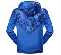 Wholesale Men Black Nylon Windbreaker Jacket - fashion new Blue long sleeve men casual jacket coat Autumn sports Windbreaker with zipper Windbreaker men clothing plus size