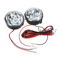2pcs / lot universelle pour véhicules Daytime Running Light Bulb DRL Brouillard voiture Lampe jour LED Lampes LED Blanc 4 K803 ronde