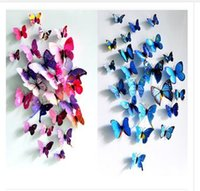 Wholesale Kids Wholesale Dhgate - Wall Stickers New 3d butterfly decoration home wall stickers 12pc 3D Butterflies PVC Removable Cinderella Dhgate Free Shipping R1344