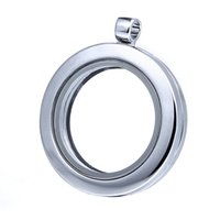 Hot Sale 925 Silver Glass Floating Charm Locket + 925 Silver Chain Diy Alloy Glass Locket Jóias 10pcs / lot