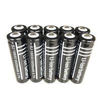 bateria recarregável de 3.6v venda por atacado-UltraFire 18650 Preto de Alta Capacidade 6000 mAh 3.7 V Bateria Li-ion Recarregável Para Lanterna LED Carregador de Baterias de Câmera Digital de Lítio