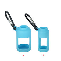 Wholesale E Liquid Keychain - 30ML 15ML E-liquid Bottle Carrying Case Silicone Flask Case Cover with Keychain for Outdoor Sports and Travelling Hiking