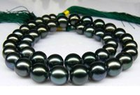 Wholesale Pearl Necklace 14kg - Fine Pearls Jewelry STUNNING 11-12m mTAHITIAN BLACK NATURAL PEARL NECKLACE 20INCHES 14KG