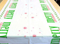 Wholesale plastic tablecloth decorations - Big Size Chirstmas Table Cloth One-off Xmas Tablecloth Dining Kitchen Tool Table Cover Christmas Dinner Party Decorations Ornament