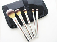 Wholesale Beautiful Hair Pieces - IT Cosmetics Brushes for ULTA Your Beautiful Basics Airbrush 101 5-pieces Brush set with Pouch Deluxe Makeup Face Blender DHL Free