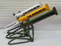 "Wholesale Disc Frame - 5pcs Wholesale 18"" (173-180cm) Humvees Version 2.0 mountain bike frame aluminum alloy 6061 folded frame Disc brake black green white yellow"