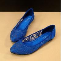 ingrosso scarpe di raso per festa nuziale-Eleganti scarpe da sera in pizzo design materiale pizzo e raso scarpe da donna grandi dimensioni scarpe da sera festa nuziale scarpe da sposa yzs168