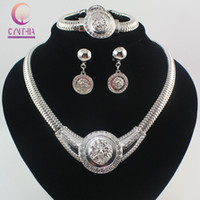 Wholesale China Costume - Vogue Medusa Necklace 18K Chunky Gold Plated Rhinestone Costume Jewelry Sets Lion Head Jewelry For Women 2Colors